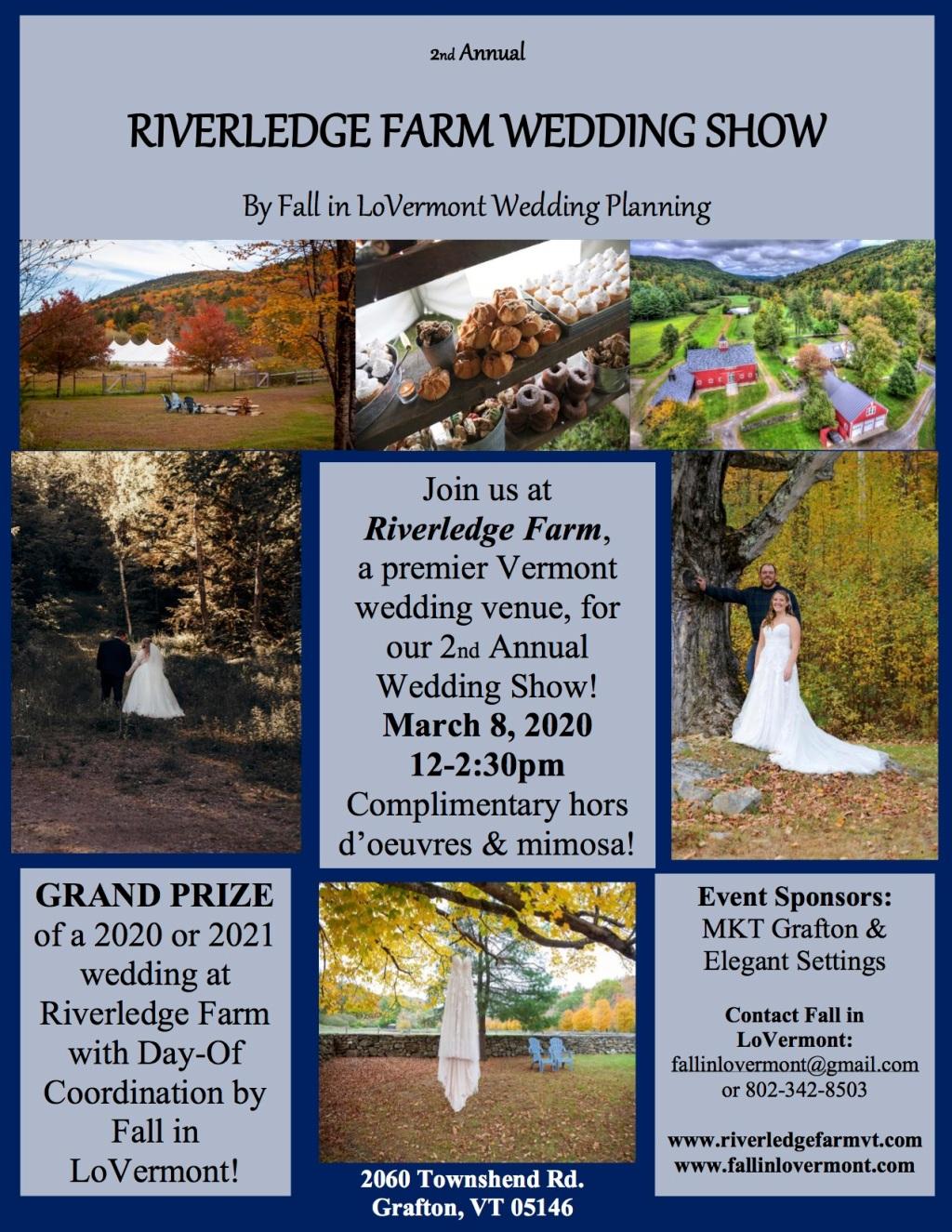 Riverledge Farm Wedding Show 2020